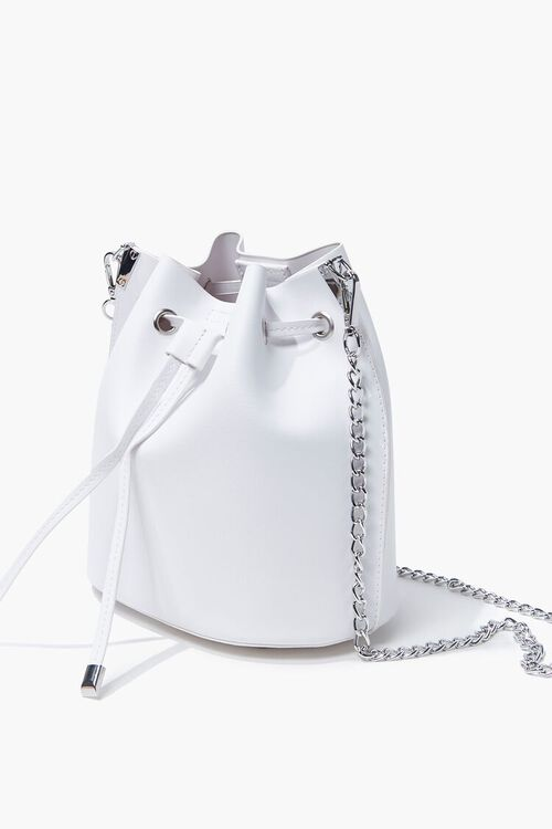 Faux Leather Crossbody Bucket Bag, image 2
