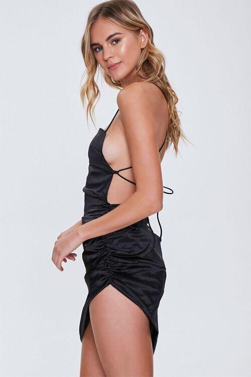 Satin Lace-Up Back Dress, image 2