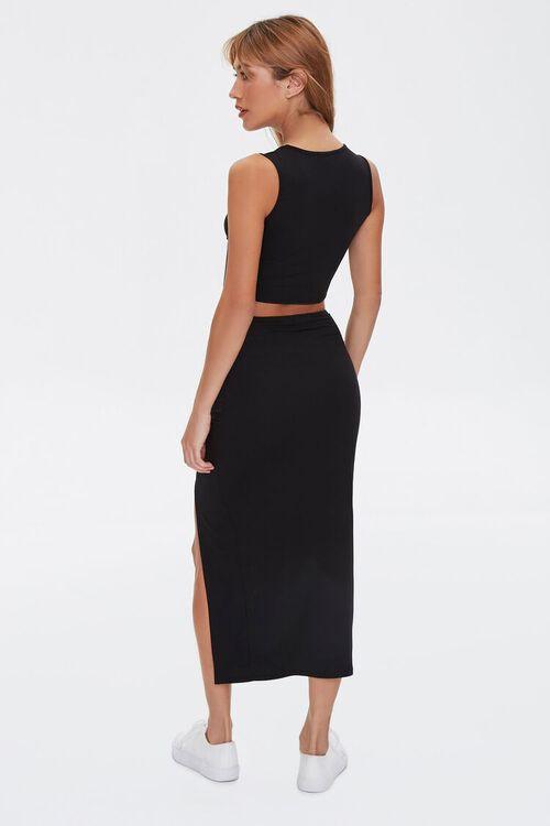 Crop Top & Midi Skirt Set, image 3