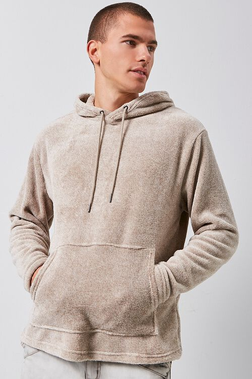 Fuzzy Marled Hooded Sweater, image 5