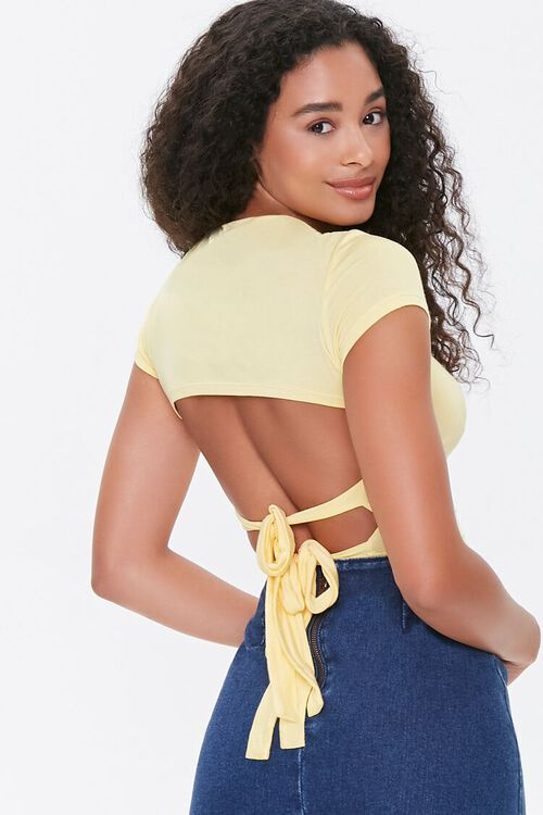 Tie-Back Cropped Tee, image 1