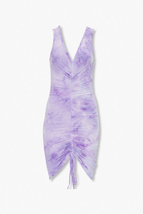 Ruched Tie-Dye Bodycon Dress, image 1