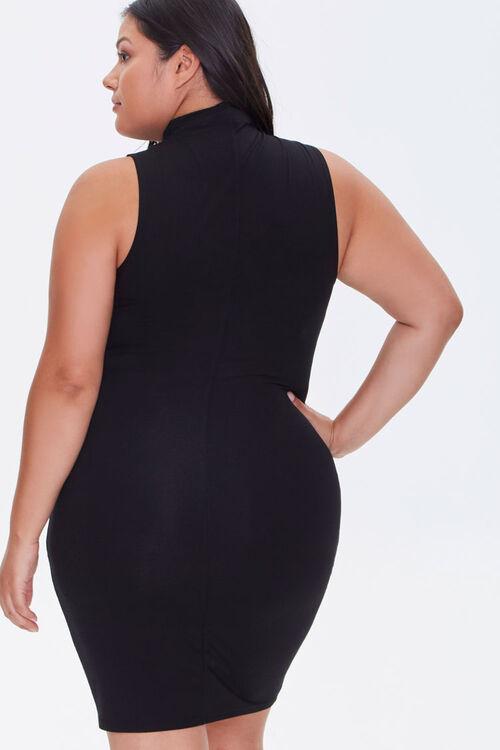 Plus Size Sleeveless Mini Dress, image 3
