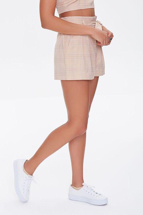 Plaid Paperbag Shorts, image 3