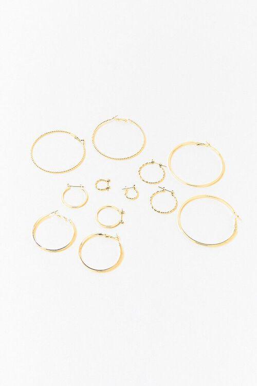 GOLD Assorted Hoop Earring Set, image 2