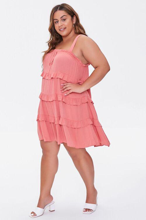 Plus Size Sleeveless Tiered Mini Dress, image 4