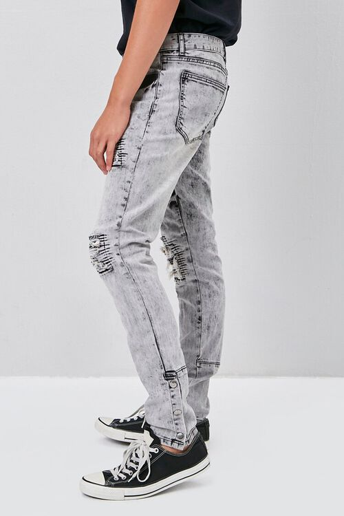 Distressed Snap-Button Jeans, image 3