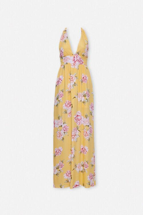 Floral Print Halter Dress, image 1