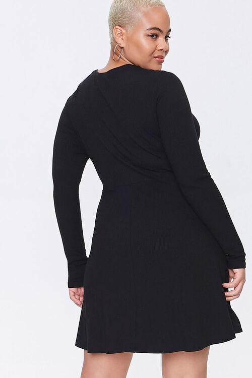 Plus Size Skater Mini Dress, image 3