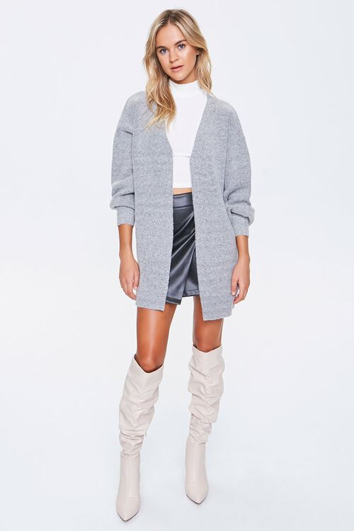 Balloon-Sleeve Cardigan Sweater, image 4