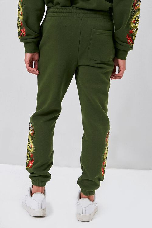 Dragon Embroidered Graphic Joggers, image 4