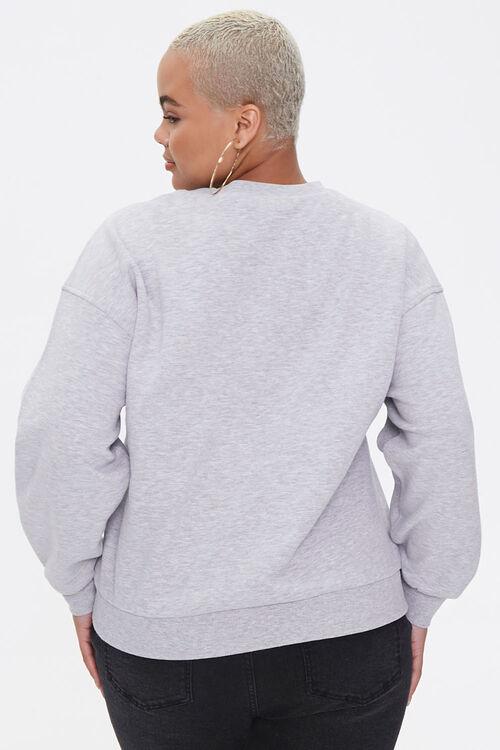 Plus Size Leopard Lips Sweatshirt, image 3