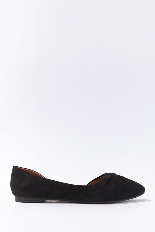 Faux Suede Twisted Vamp Flats, image 1