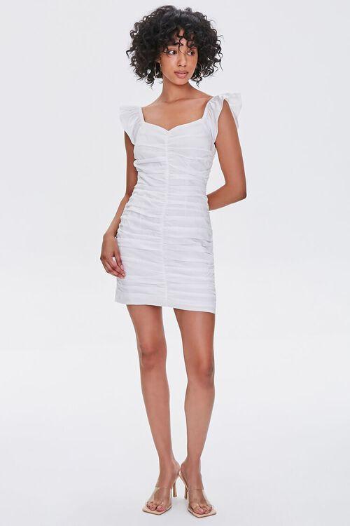 Ruched Cap-Sleeve Sheath Dress, image 4