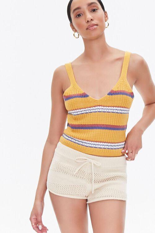 Perforated Drawstring Shorts, image 1