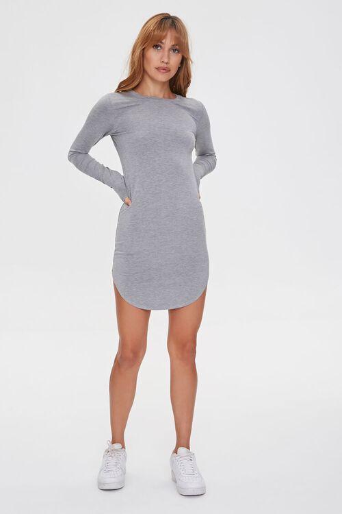 HEATHER GREY Mini T-Shirt Dress, image 4
