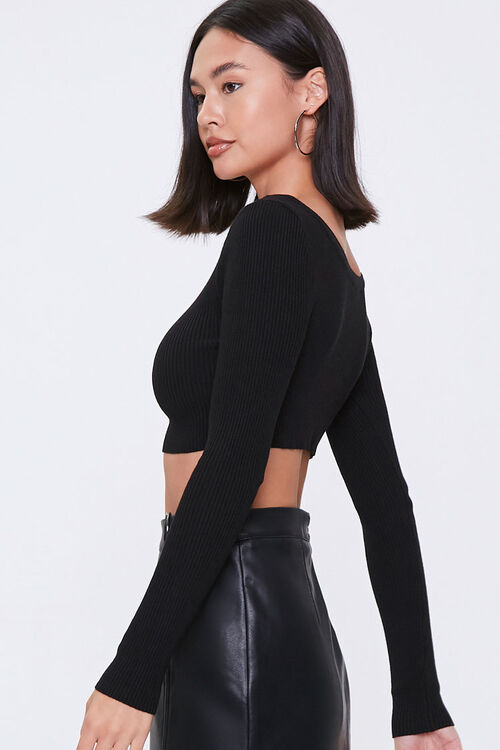 Cropped Sweater-Knit Top, image 2