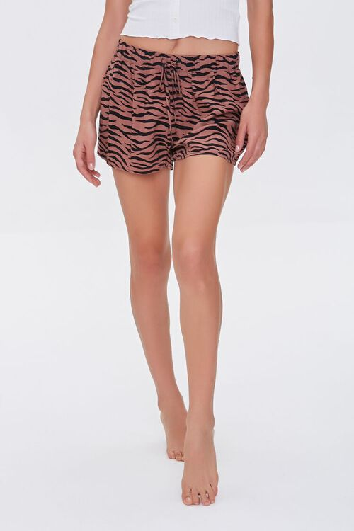 Tiger Striped Lounge Shorts, image 2