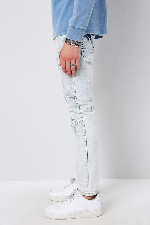 Distressed Panel Slim-Fit Jeans, image 2