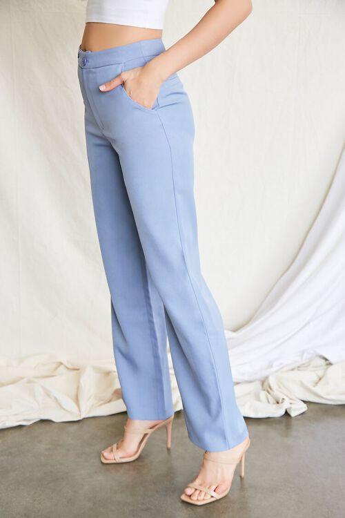 BLUE Buttoned Wide-Leg Pants, image 3