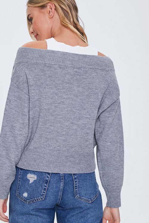 Ribbed-Trim Combo Sweater, image 3