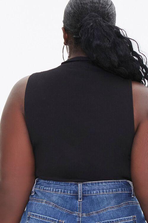 Plus Size Sleeveless Turtleneck Bodysuit, image 3