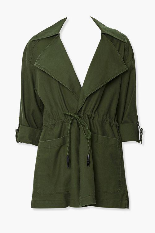 Cuffed Drawstring Jacket, image 1