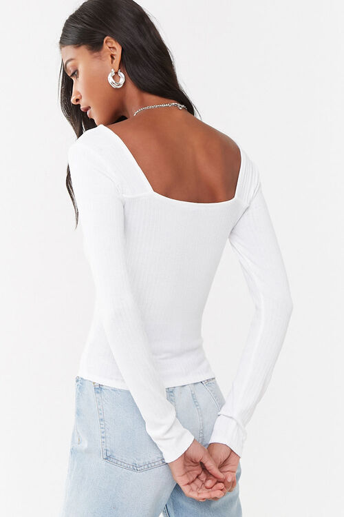 Pleated Square Neck Top, image 3