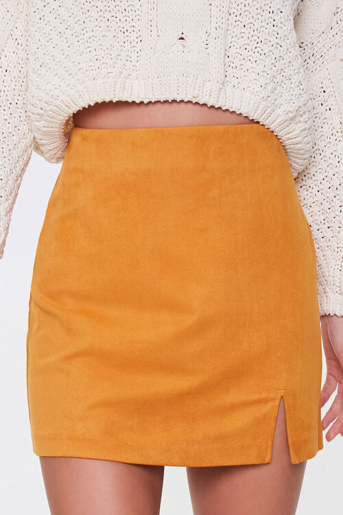 Faux Suede Mini Skirt, image 2