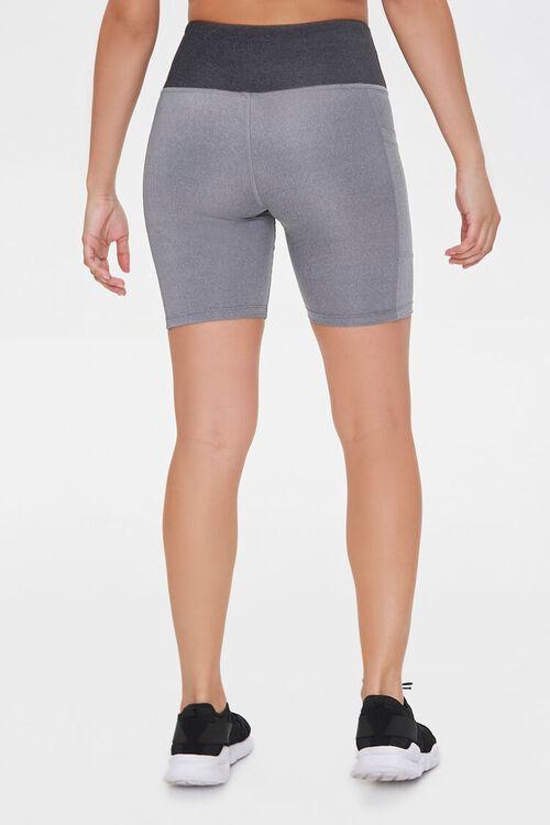 Active Heathered Pocket Biker Shorts, image 4