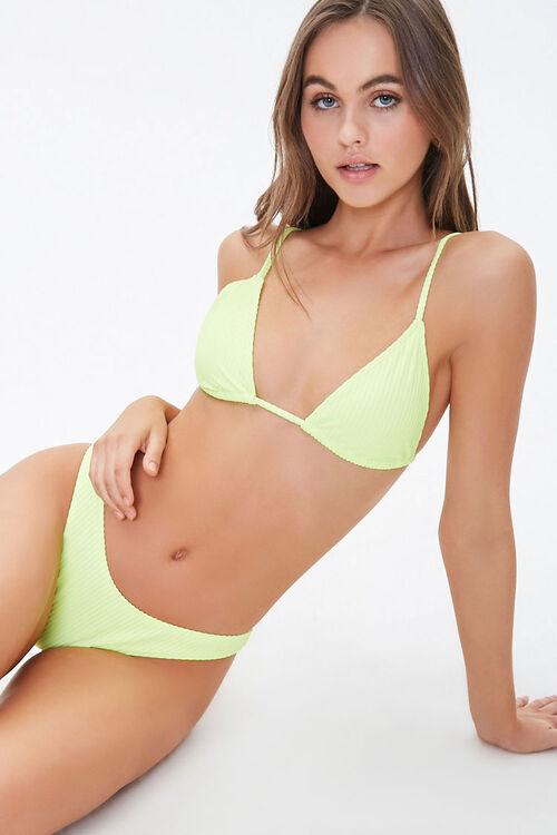 Ribbed Tie-Back Bikini Top, image 1