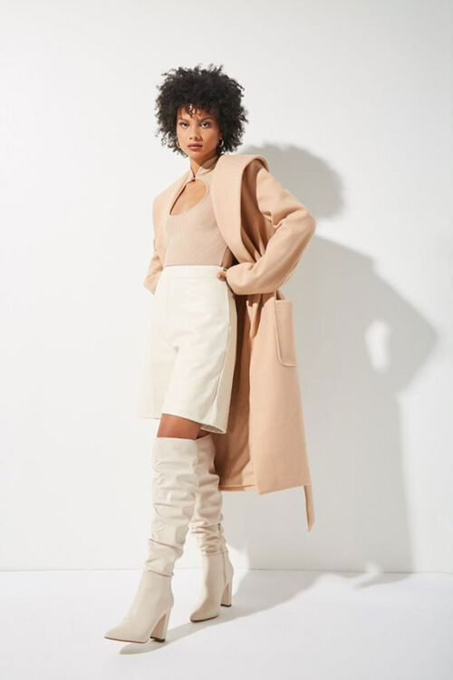 Tie-Waist Wrap Coat, image 1