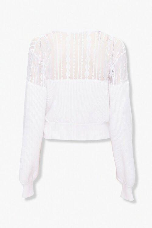 Crochet-Lace Wrap Sweater, image 2