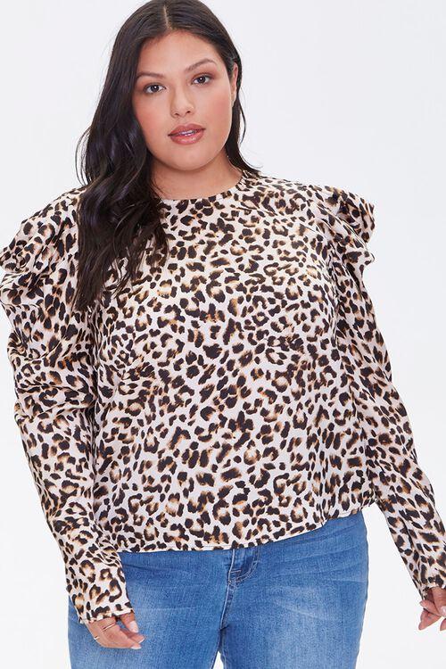 Plus Size Leopard Print Top, image 1
