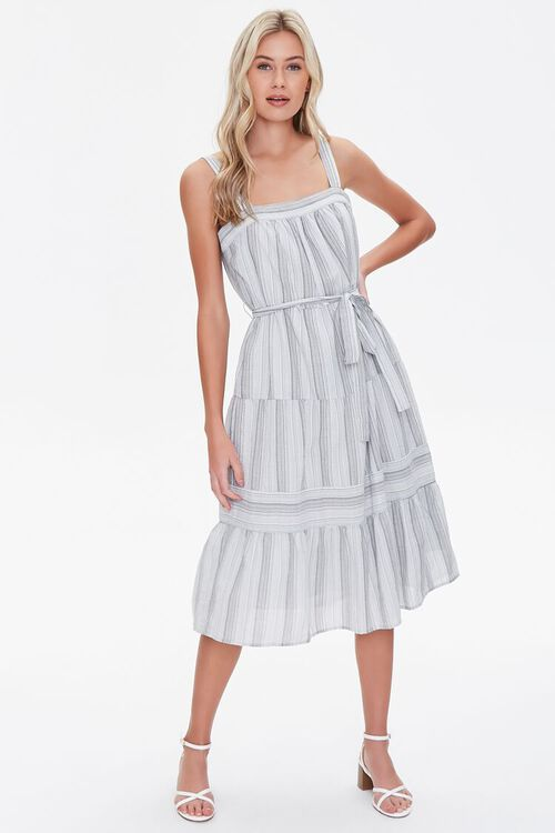 Striped Fit & Flare Dress, image 4