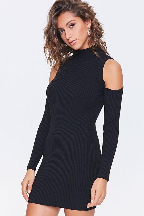 Open-Shoulder Sweater Dress, image 1
