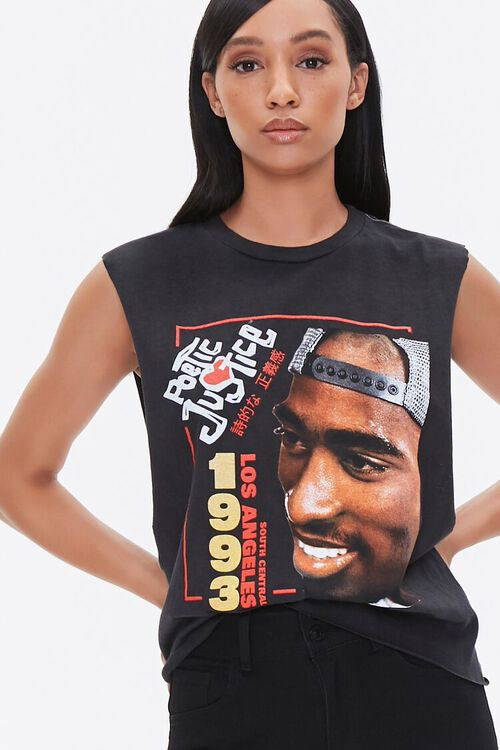 Tupac Shakur Graphic Muscle Tee, image 1