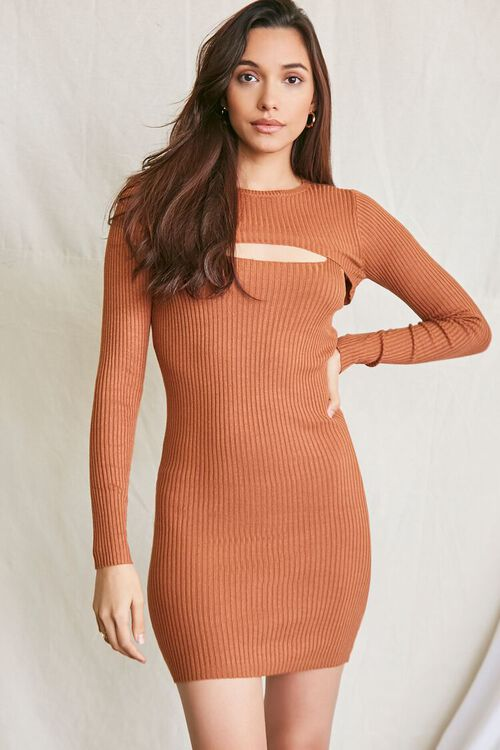 COFFEE Super Cropped Top & Mini Dress Set, image 1
