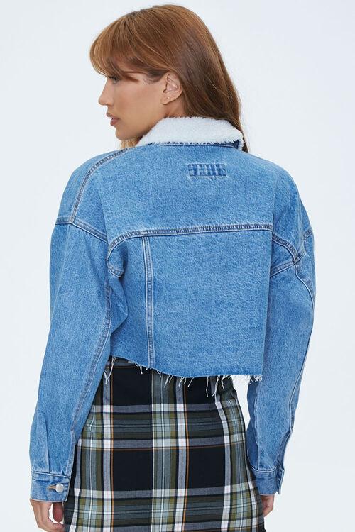 Fleece-Collar Denim Jacket, image 2