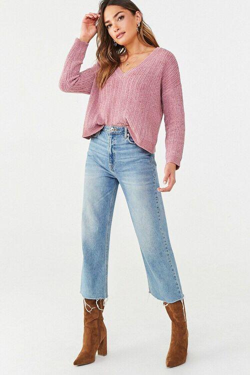 Chenille V-Neck Sweater, image 4