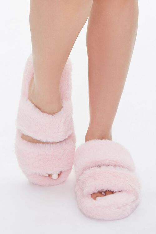 Plush Faux Fur Slippers, image 4