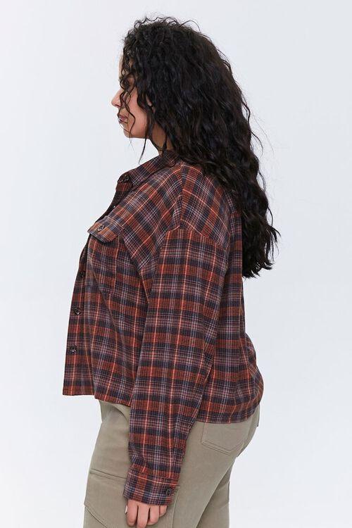 Plus Size Plaid Button-Up Shirt, image 2