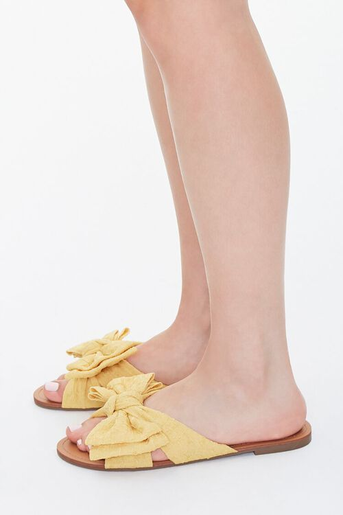 Dual Bow Flat Sandals, image 2