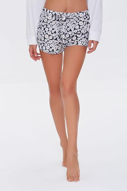 Daisy Print Lounge Shorts, image 2