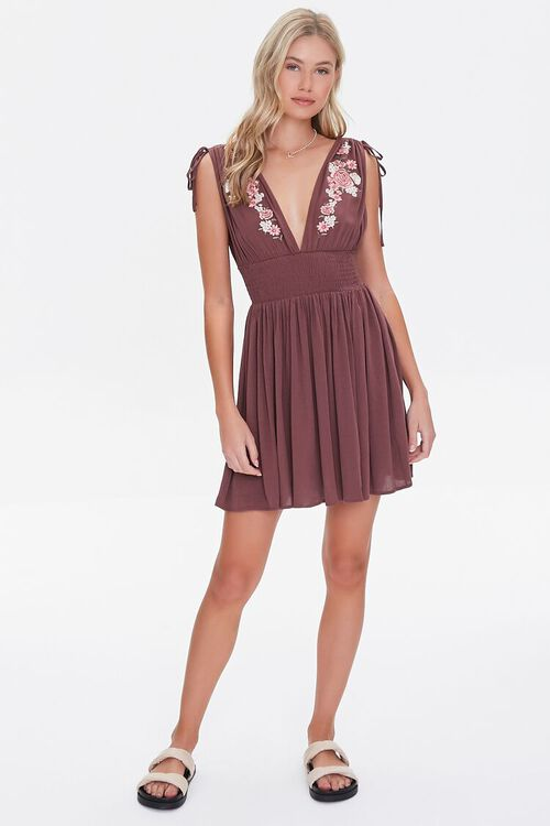 Floral Embroidered Mini Dress, image 4