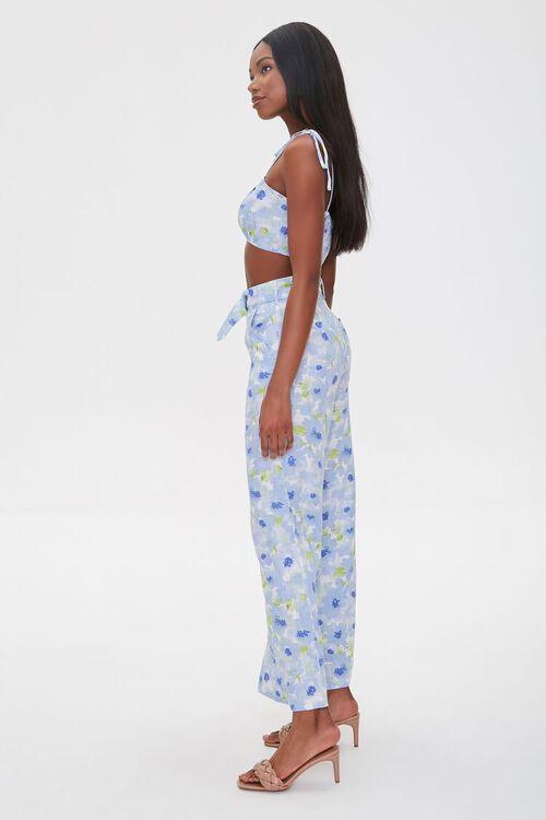 BLUE/MULTI Floral Cropped Cami & Pants Set, image 2