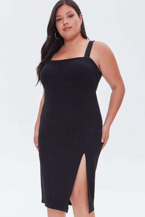 Plus Size Bodycon Slit Dress, image 1