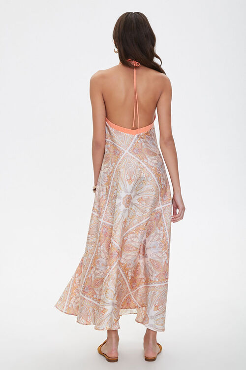 Satin Ornate Print Trapeze Dress, image 3