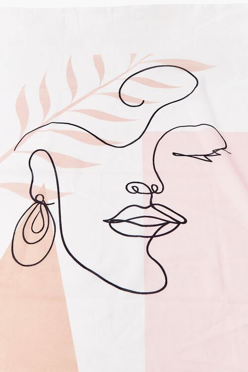 WHITE/MULTI Line Art Graphic Wall Tapestry, image 2