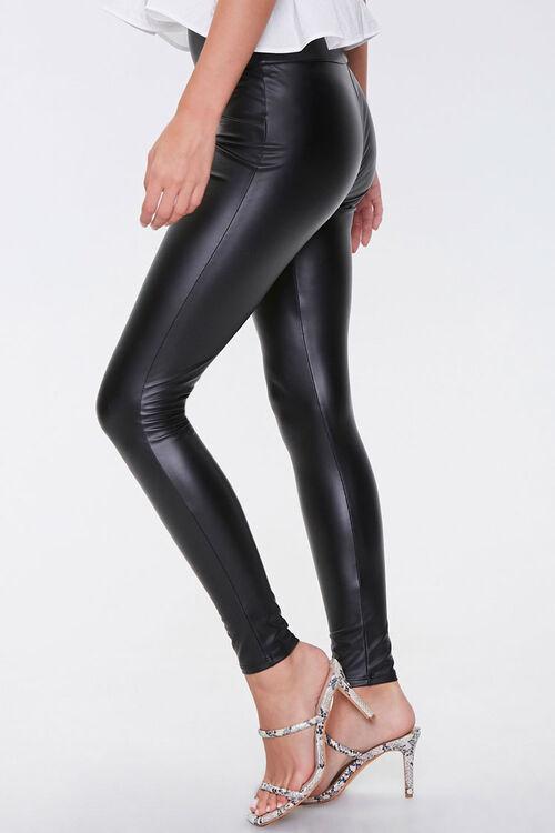Faux Leather High-Rise Leggings, image 3